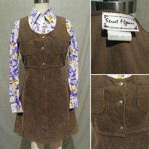 70s Sweet Child Corduroy Jumper Dress
